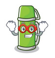 super hero thermos character cartoon style vector image