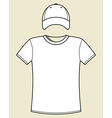 T-shirt and cap template