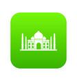 taj mahal icon digital green vector image