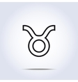 Taurus black and white icon vector image vector image