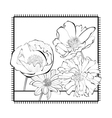 Template for card with decorative flowers vector image vector image