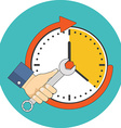 Time management concept Flat design Icon in vector image vector image