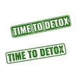 Time to Detox rubber stamp isolated on white vector image vector image