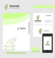 tree business logo file cover visiting card and vector image vector image