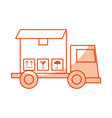 truck delivery with box service icon vector image vector image