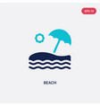 two color beach icon from hotel concept isolated vector image vector image