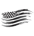 usa flag grayscale icon vector image vector image