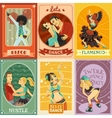 Vintage Dance Flat Icons Composition Poster vector image