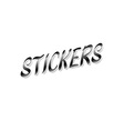 word sticker on white background vector image vector image