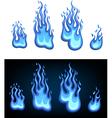 Gas flame set vector image