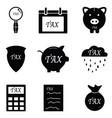 tax icon set vector image