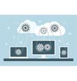 cloud computing 2 vector image