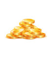 pile of golden coins isolated vector image