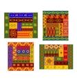 African primitive geometric ornamental pattern vector image