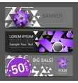 set of horizontal banners for your business ad to vector image