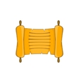 Ancient scroll icon in cartoon style vector image vector image