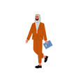 arab business man working with briefcase office vector image vector image