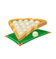 billiards ball table field sport cartoon isolated vector image