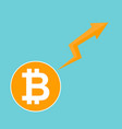 bitcoin symbol cryptocurrency market trend on vector image vector image