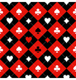 Card Suit Chess Board Red Black White vector image vector image