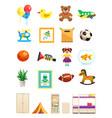 children room interior objects set vector image vector image