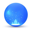 christmas ball element of festive decorations vector image vector image