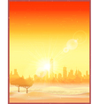 city in desert an old poster vector image vector image