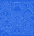 cloud computing seamless background vector image