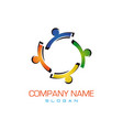 colorful family logo vector image vector image