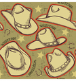 cowboy hats seamless pattern for western vector image vector image