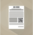 document with Qr code vector image