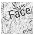 face painting Word Cloud Concept vector image vector image