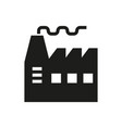 factory icon on white background vector image vector image