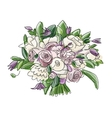 Floral wedding bouquet sketch for your design vector image vector image