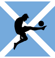 football player with Scottish flag vector image vector image