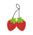 fresh strawberry fruit tasty nutrition vector image vector image