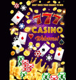 gamble games casino poker wheel fortune dice vector image vector image