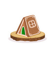 gingerbread house traditional christmas dessert vector image