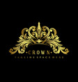 gold royal crown logo luxury design vector image vector image