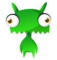 green cute monster on white backgroundprint vector image vector image