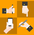 hand collections set 1 vector image vector image