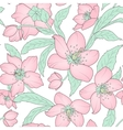 Hellebore floral seamless pattern pink green white vector image vector image