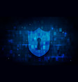 internet security and technology concept vector image vector image