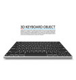 keyboard on white background in perspective vector image