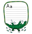 Little crocodile or alligator for ABC Alphabet A vector image vector image