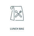 lunch bag line icon linear concept