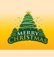 merry christmas with gold background vector image vector image
