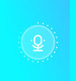 microphone speech recognition design vector image vector image