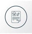 mortgage loan icon line symbol premium quality vector image