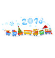 new year train vector image vector image